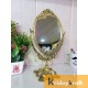 Double Side Table Mirror Gold Plated for Gift Love one Festival Gift Perfect for Birthday, Anniversary Wedding
