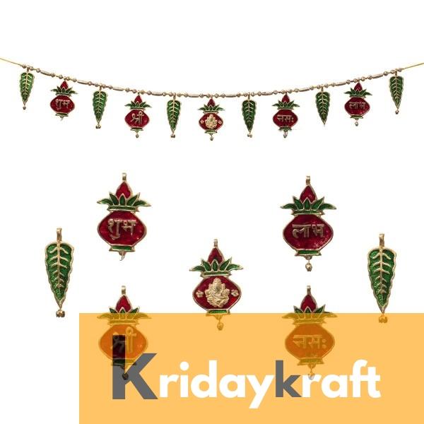 Toran Bandarwan Decorative Meenakari mangal kalash Subh Labh Ganesh for Showpiece and Gift