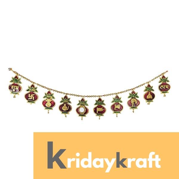 Toran Bandarwan Decorative Meenakari mangal kalash jain samaj Bandanwar for Showpiece and Gift