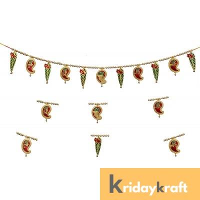 Toran Bandarwan Decorative Meenakari keri ganesh mango leaf for Showpiece and Gift