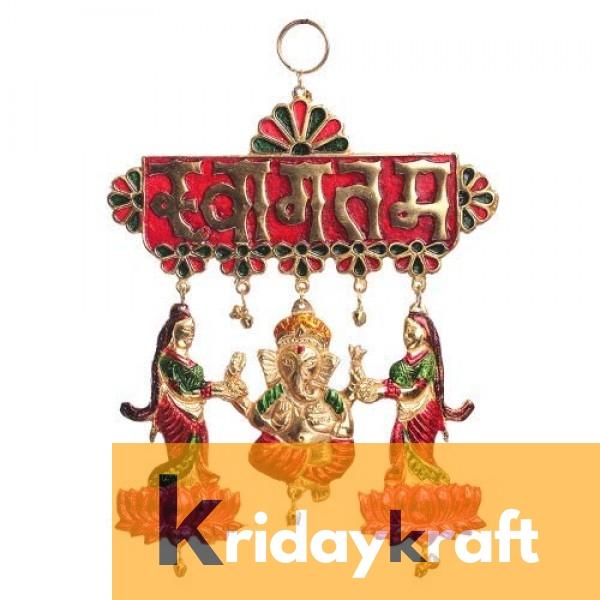 Toran Decorative Meenakari swagtam welcome ganesh for Showpiece and Gift