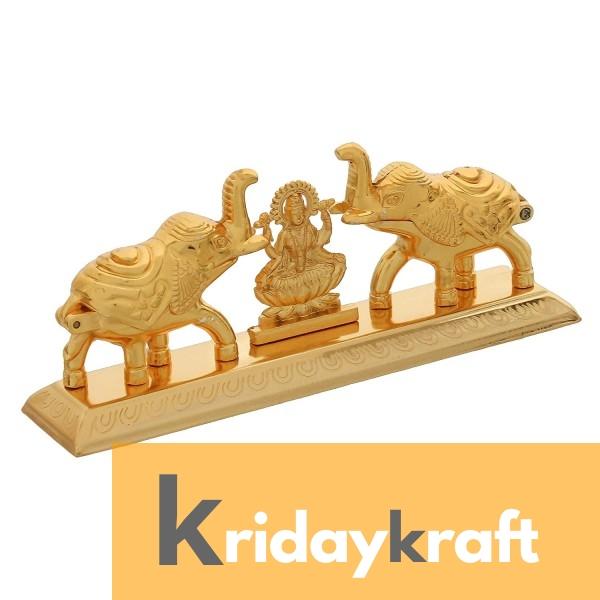 Roli-Chandan, Chawal-Akshat-Haldi, Kumkum Box Chopda Elaphant Laxmi