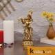 Lord Krishna Idol Statue Krishna Idols Gold Plated Flute Playing Krishan Decorative Showpiece Figurine for Pooja Room & Gift