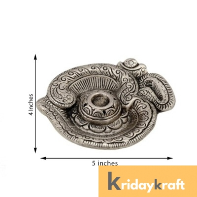 insence stick holder silver plated om shape