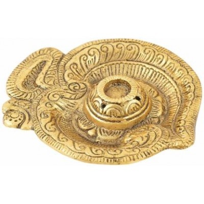 insence stick holder golden plated om shape