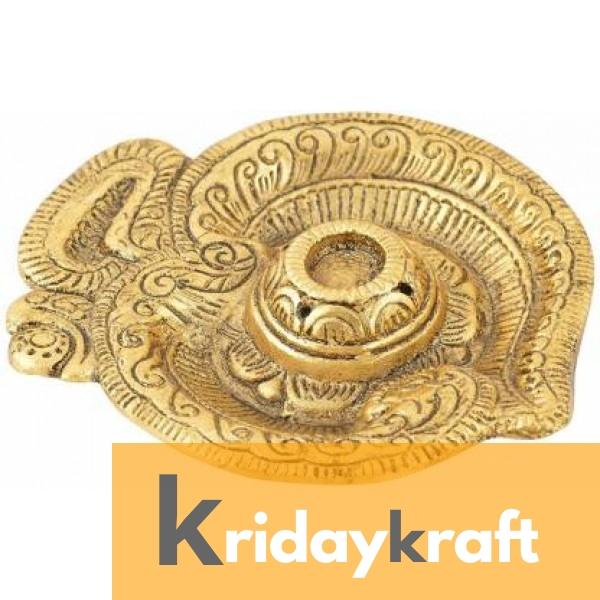 insence stick holder golden plated om shape