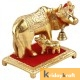 Kamdhenu Cow Mini Squre Gold Plated