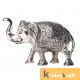 Metal Elephant Medium Size Silver Polish for Showpiece Enhance Your Home