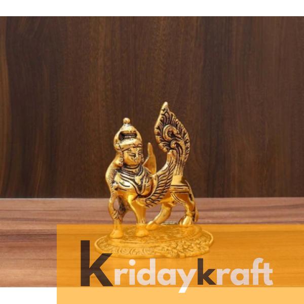 Kamdhenu Nandani Cow Gold Plated