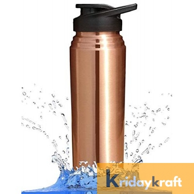 Copper Bottle for Water 1 Litre sipper bottle plain, Dirt Proof, Leak Proof and Joint Less, Ayurveda and Yoga Health Benefits Water Bottle