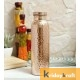 Copper Bottle for Water 1 Litre  hammered bottle, Dirt Proof, Leak Proof and Joint Less, Ayurveda and Yoga Health Benefits Water Bottle
