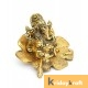 Ganesha sitting on flower gold plated for home decor and gifts
