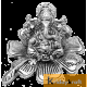 Ganesha sitting on flower Silver plated for home decor and gifts