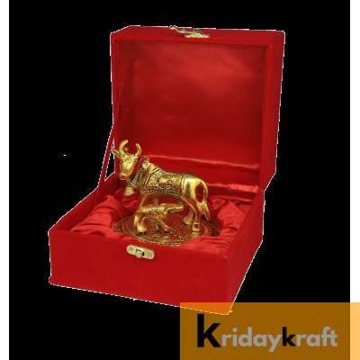 Valvet Box Kamdhenu Cow for Returns Gifts and coporate gifts