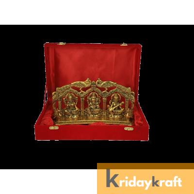 Valvet Box Laxmi ganesh saraswati statue for Returns Gifts and coporate gifts