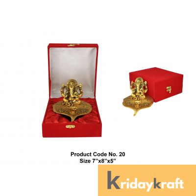Valvet Box Ganpati with diya Xl for Returns Gifts and coporate gifts