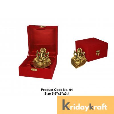 Valvet Box Ganpati with diya for Returns Gifts and coporate gifts