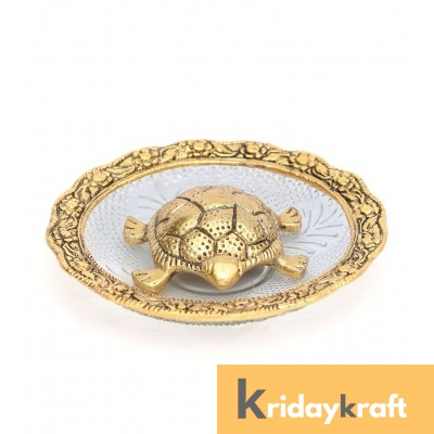 Tortoise Turtle Plate Yantra Vastu Feng Sui Gold Plated achua Yantra Vaastu for good luck