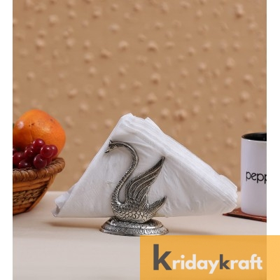 Metal Swan Napkin Holder Duck Shaped Tissue Stand Decorative for Dinning Table Item Showpiece
