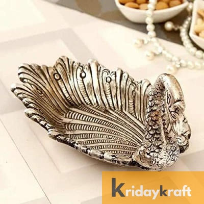 Metal Duck Shaped Dry Fruit tray table decorative Silver Plated Home Decor