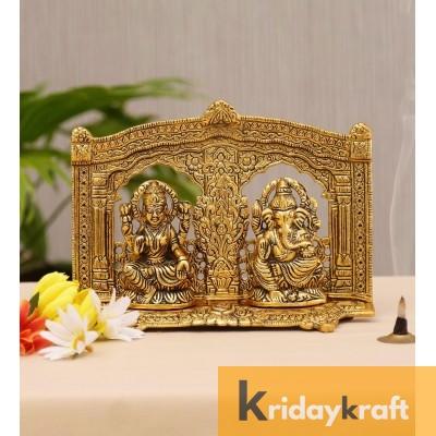 Laxmi Ganesh Royal Statute Showpiece Mehrav Gold Plated