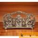 Metal laxmi Ganesh Saraswati plate Idol Decorative murti showpiece for Antique Gift