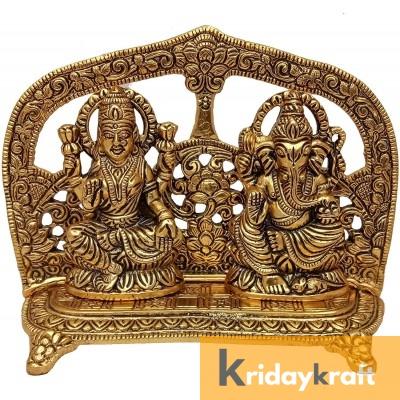 Laxmi Ganesh Idol Showpiece Mehrav Gold Plated