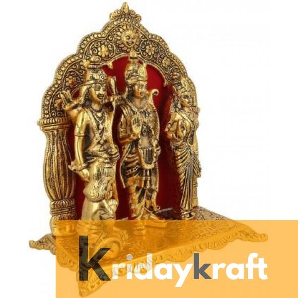 Lord Ram darbar statue table decorative showpiece - Metal Ram laxman sita hanuman ji idols