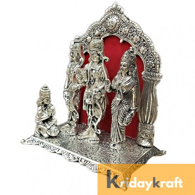 Lord Ram darbar statue table decorative showpiece - Metal Ram laxman sita hanuman ji idols