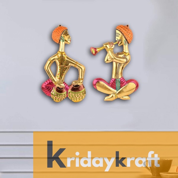 Musical Man Set Multicolor Showpiece for Home ,Office & Walls Gift for Have House Warming Anniversaries, Birthday, Wedding Gifts, Return Gifts, New Year Gifts..