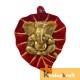 Wall Hanging red goldern Leaf Ganesh Menakari Xl