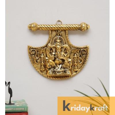metal farsa ganesha wall hanging sculpture lord ganesh Idol ganpati ucky feng shui wall decor arts