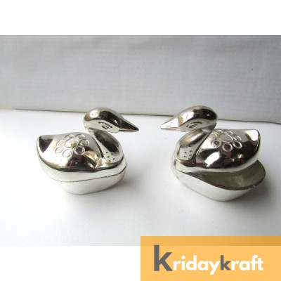 kumkum container silver duck set of 2 pcs