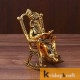 Lord Ganesha Statue Sitting on 3D Moving Chair and Reading Ramayan