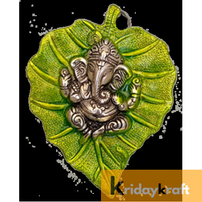 Wall Hanging Green Leaf Ganesh Menakari