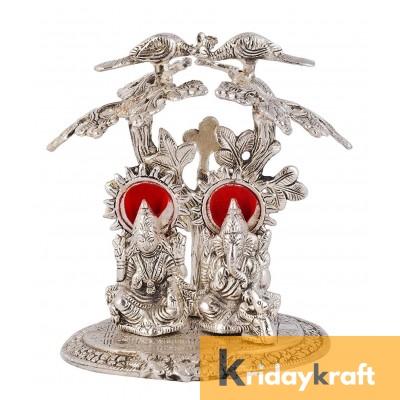 Tree Laxmi Ganesh Silver Plated Oxidized