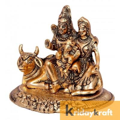 Shiva Parvati Ganesh Kartik Shiv Parivar Shiva Family Bholenath Shankar Parvati Ganesha Nandi Family Murti Idol Statue Sculpture