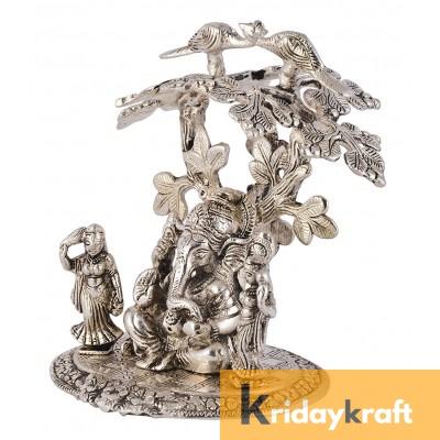Tree Ridhi Sidhi Ganesh Silver Oxidized