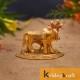 kamdhenu cow and calf Flowerbase Gold Plated